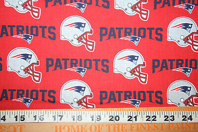 NEW ENGLAND PATRIOTS 1/2 YARD 18X60- NFL -  100% COTTON FABRIC