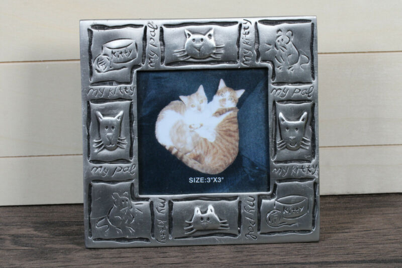 3x3 Metal Cat Kitty Frame