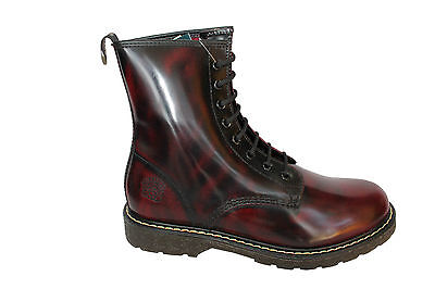 GRINDERS New CEDRIC Cherry Red Boot 8 Eyelet Derby Lace Non Safety Leather (Eyelet Safety Boot)