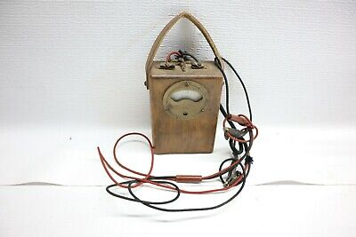 Nice Antique Vintage Weston Electric Volt Ohm Test Meter W Wooden Case - Usa