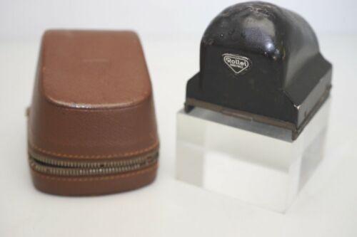 Vintage Rolleiflex TLR prism finder with case