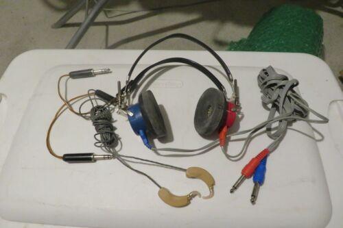 Beltone  Audiometric Hearing Screening Headphone Headset  & Audio One A-28  Ear