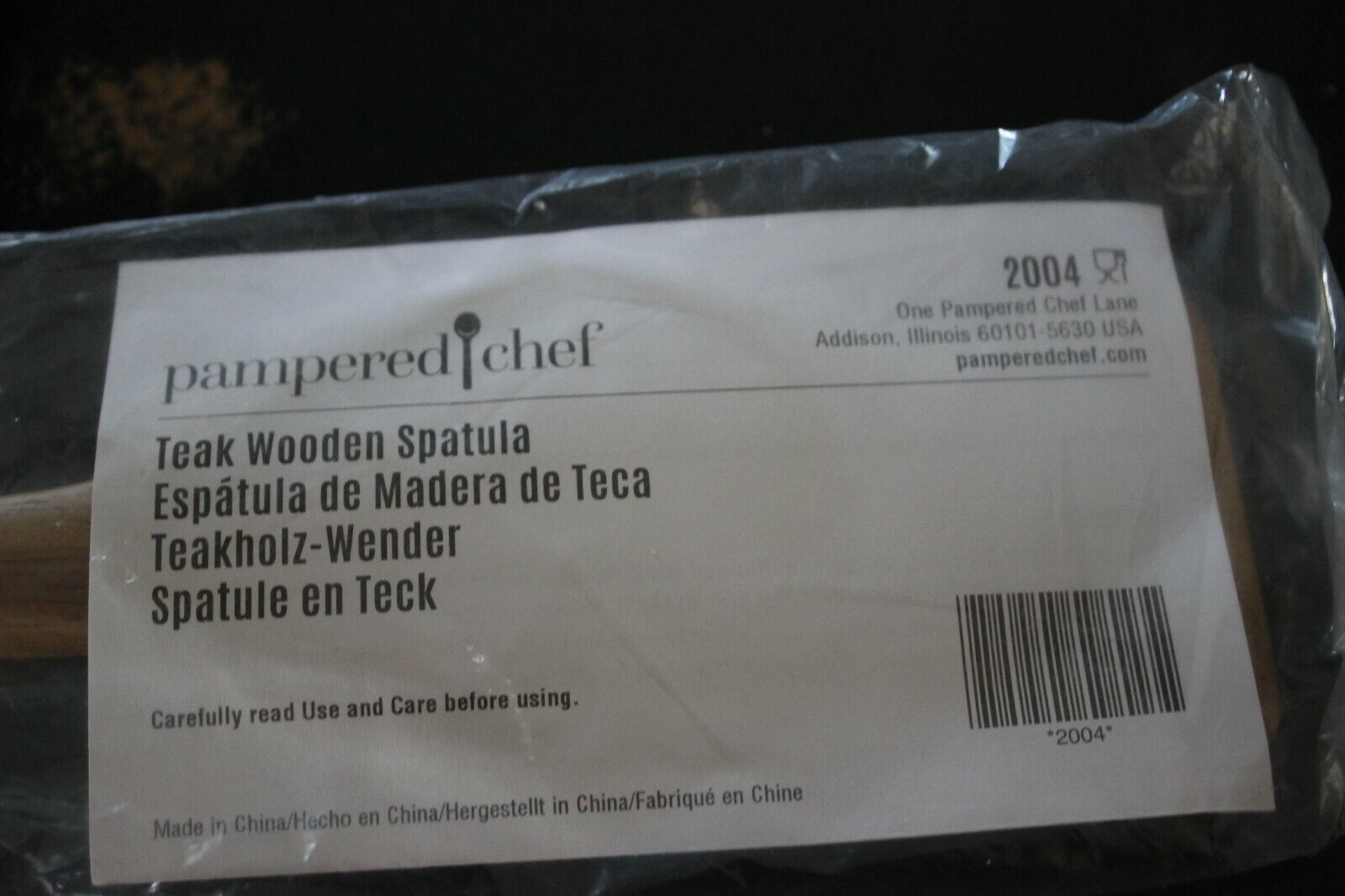 Pampered Chef Mint Condition Teak Wooden Spatula FREE SHIPPI