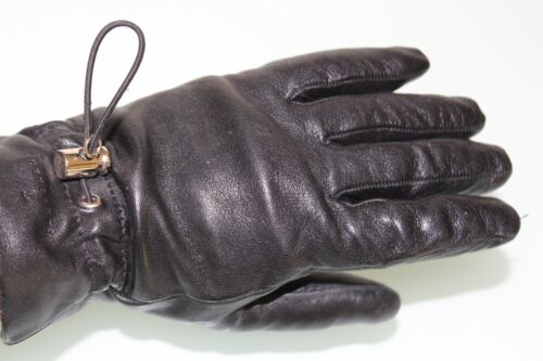 Trussardi Nappa leather black gloves ITALY size 7