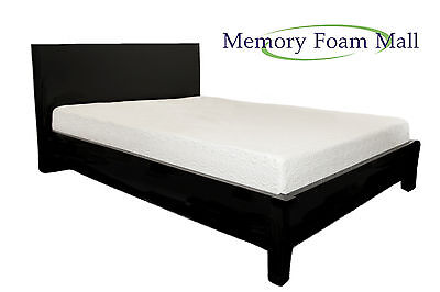 10 Inch Queen Cool Blue Gel Infused Firm Memory Foam Mattress Bed Room