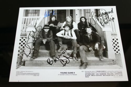 YOUNG GUNS CASTX4 ORIGINAL HAND SIGNED AUTOGRAPH #275 PHOTO PHOTOGRAPH