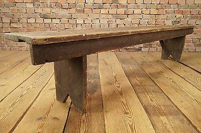 Bauhaus Sitzbank Vintage Holzbank Saalbank 1900 alt Fin du siècle Shabby