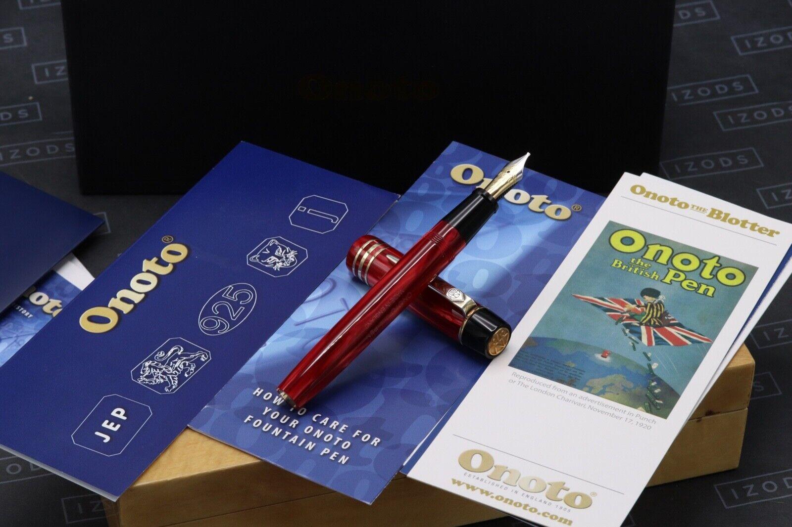 Onoto Magna Classic Burgundy Pearl Fountain Pen