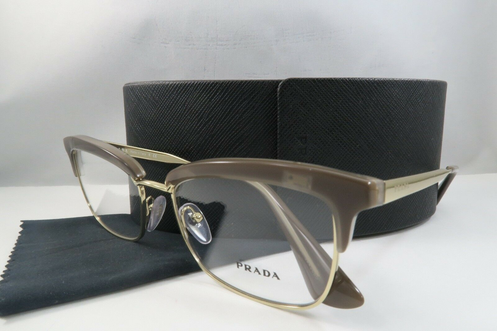 aa8413b490 Prada Women s Brown Glasses with case VPR 08S UED-1O1 53mm