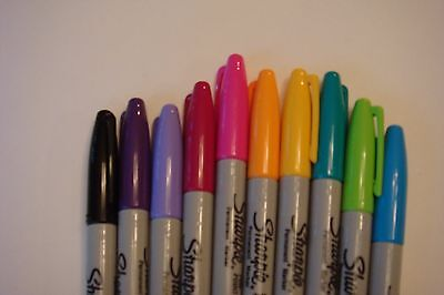 New Set Of 10 Sharpie Permanent Pens Free Ship