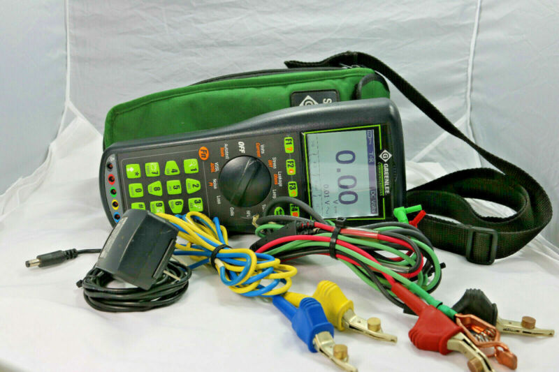 Sidekick Plus GreenLee Advanced Cable  Test Set with Impulse Noise, Step TDR