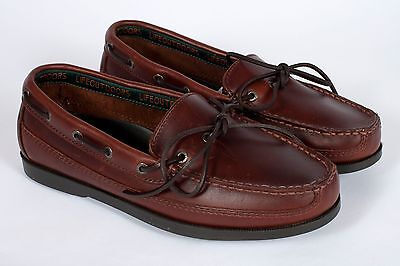 Life Outdoors Boat Shoes Men's 9 Brown Leather Moccasins