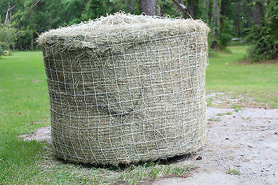 Horse Hay Round Bale Net Feeder Save $$ Eliminates Waste Fits 5' x 5' Bales