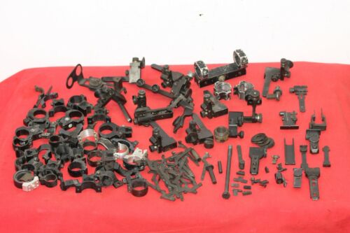 BIG LOT OF SCOPE MOUNTS , SCOPE RINGS , SIGHTS AND .... .