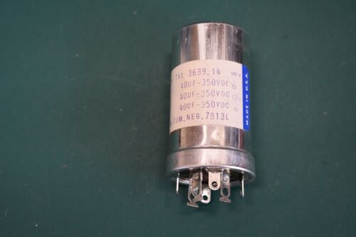 Sprague TVL 3639.14 NOS NIB Multi Section Twist Lock Electrolytic Capacitor