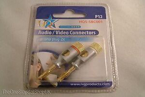 2-x-4mm-Professional-24K-Gold-Shielded-HiFi-Male-Banana-Speaker-Plugs