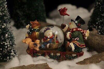 Kirkland Signature Collection Rocking Mini Waterglobe Snowman Woodland Animals