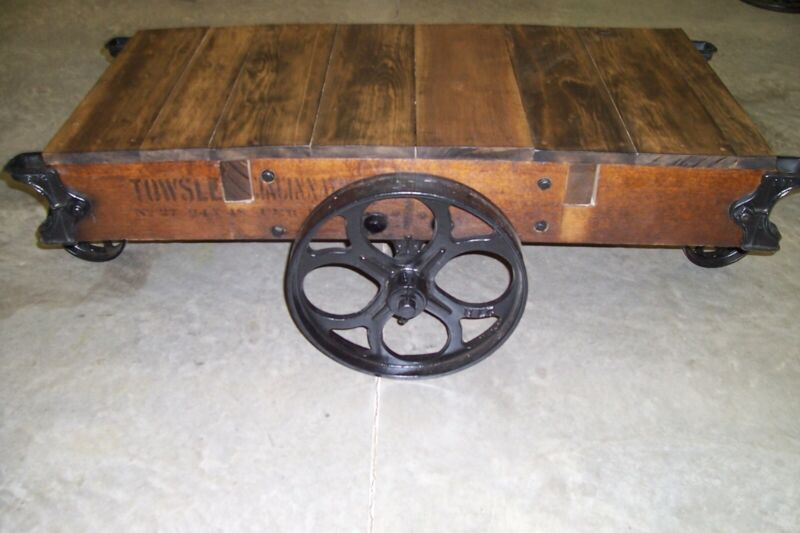 Antique Towsley industrial Railroad cart