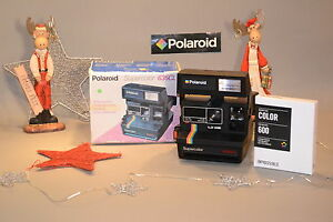 natale instant camera polaroid 635 cl color impossible instant film ebay. Black Bedroom Furniture Sets. Home Design Ideas