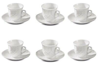Set tazze tazzine caffè con piattini set 6pz in porcellana caffetteria Nuovo