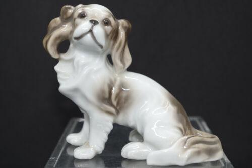 Vintage COCKER SPANIEL Japanese Painted Porcelain Figure Japan