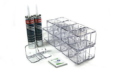 Snojax Ii 20pcs Snow Guards Adhesive Metal Steel R-panel Roof Standing Seam