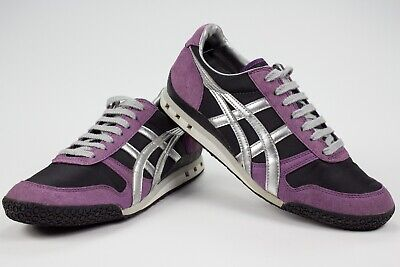 Asics Onitsuka Tiger Ultimate 81 Purple Black Silver Athletic Womens Shoes Sz 8