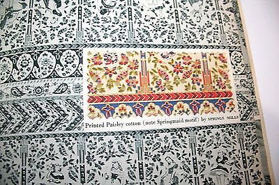 Handbook of Paisley Textile Pattern Style Book Fabric History Fashion Design Vtg
