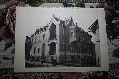 1886 8 / Wien Villa Löwenberg Cottageviertel Währing und Döbling