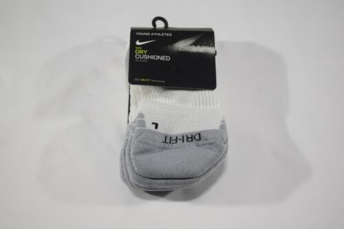 NIKE Dry Cushioned No Show Socks 3 PACK - Size Small 3Y-5Y