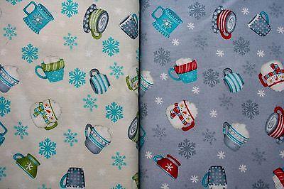 17,27qm Stoff Weihnachten Türkis Grau Rot Debbie Mumm 25cm