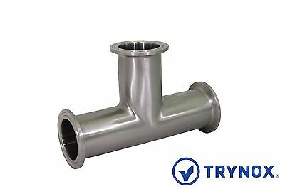 Tri Clamp 1 12 Sanitary Stainless Steel 316l Equal Tee Trynox