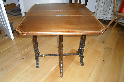Antique Edwardian Small Crossbanded Sutherland Table A/F