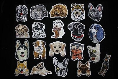DIY Iron on Patches Embroidered Badge Applique Fabric Craft Dog Puppy Fast