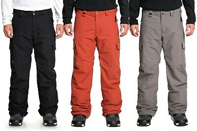Men's QUIKSILVER Porter Insulated Snow Pants Snowboard Ski Regular Fit 2019/2020