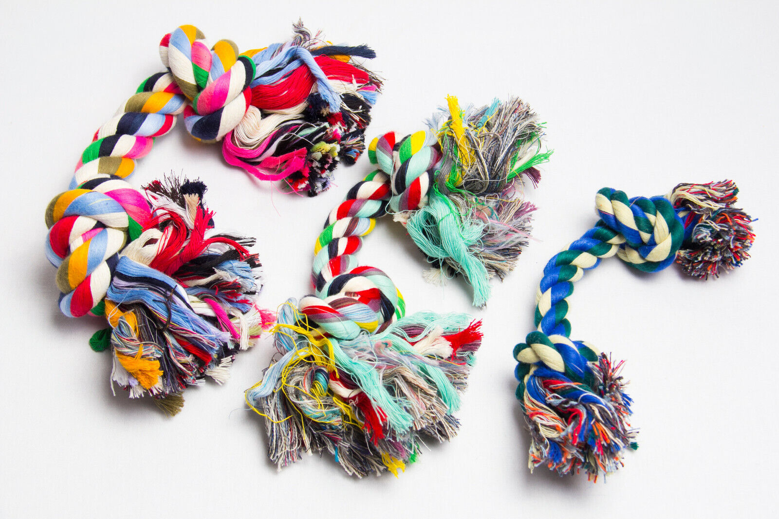 Hundespielzeug Spieltau Baumwolle Knotenseil Zahnpflege Hund Seil Tau Spielseil