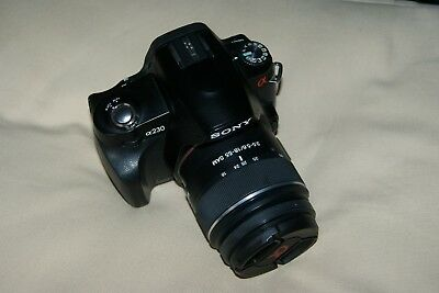 Sony Alpha A230 10.2MP DSLR & DT 18-55 f3.5-5.6 SAM VGC 2153 Shutter Accuations