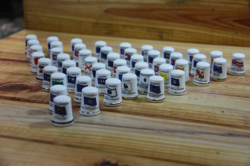 50 States Porcelain Thimble Set Brand New Made by Finact Collectibles