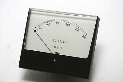 Simpson Vintage Panel Meter Ac Volts 0-300