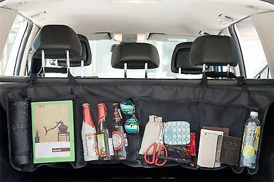 Vinsani Hanging Car Boot Storage Organiser Multi Mesh Pocket 111.8 x34.6cm Black