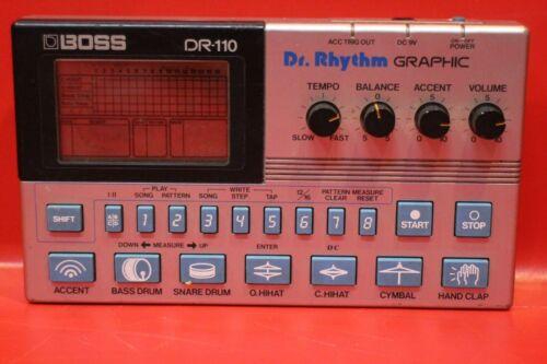 USED BOSS DR-110 Dr.Rhythm DR 110 Drum Machine Sequencer U817 191213