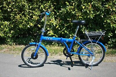 "EBike Qdos 24v Folding Electric Bike 20"" Blue **MANUFACTURER REFURB**"