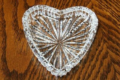 Waterford Crystal Heart Shaped Tray Made in Ireland Signed