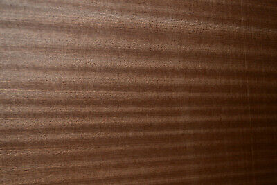 Sapele Ribbon Stripe Wood Veneer Sheets 10.25 X 28 Inches Blemished 6773-24