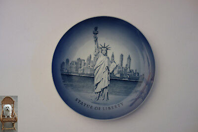 Ø 20,5 cm Wandteller Royal Copenhagen Statue of Liberty Freiheitsstatue New York