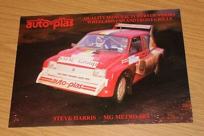 MG Metro 6R4 Rally Car Auto-Plas Steve Harris & Nick Thornton single sheet
