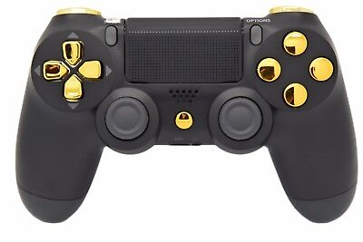 BLACK & GOLD PRO PS4 MODDED RAPID FIRE CONTROLLER - BEST MODS / FAST SHIP!