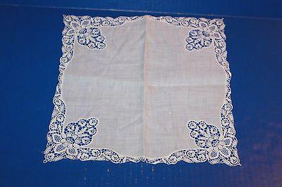 Vintage Ladies Handkerchief White Lace Wedding