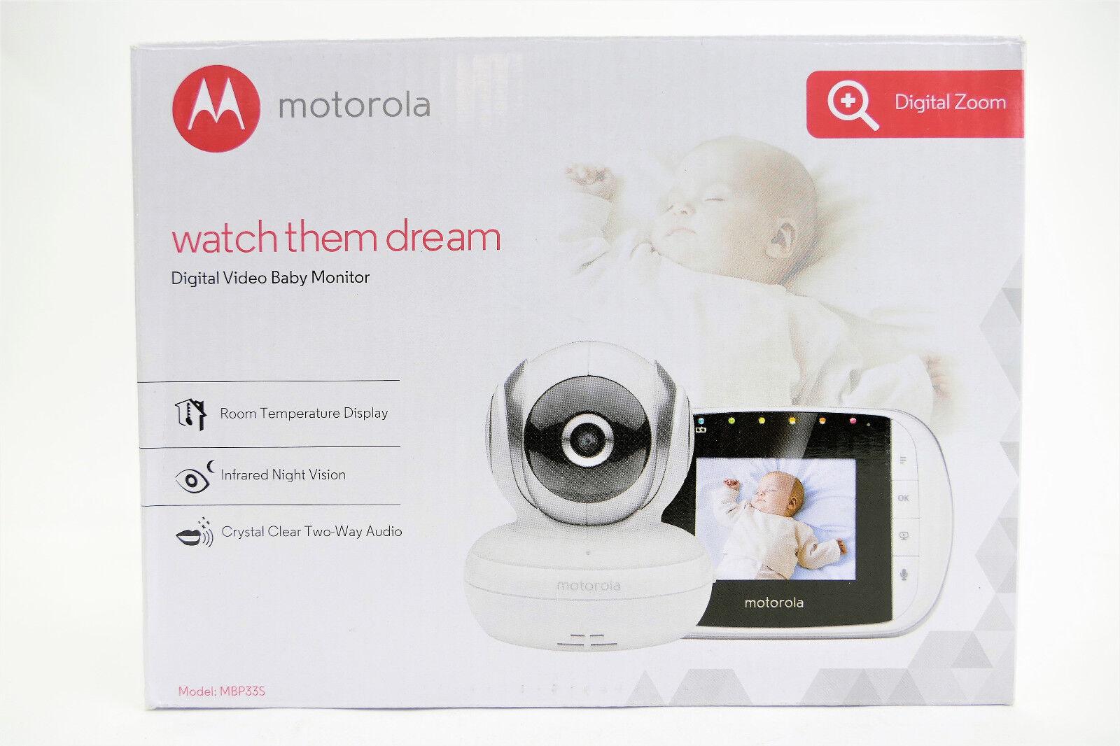 Motorola MBP 33S Video Babyphone Temperatursensor und bis 300 m Reichweite