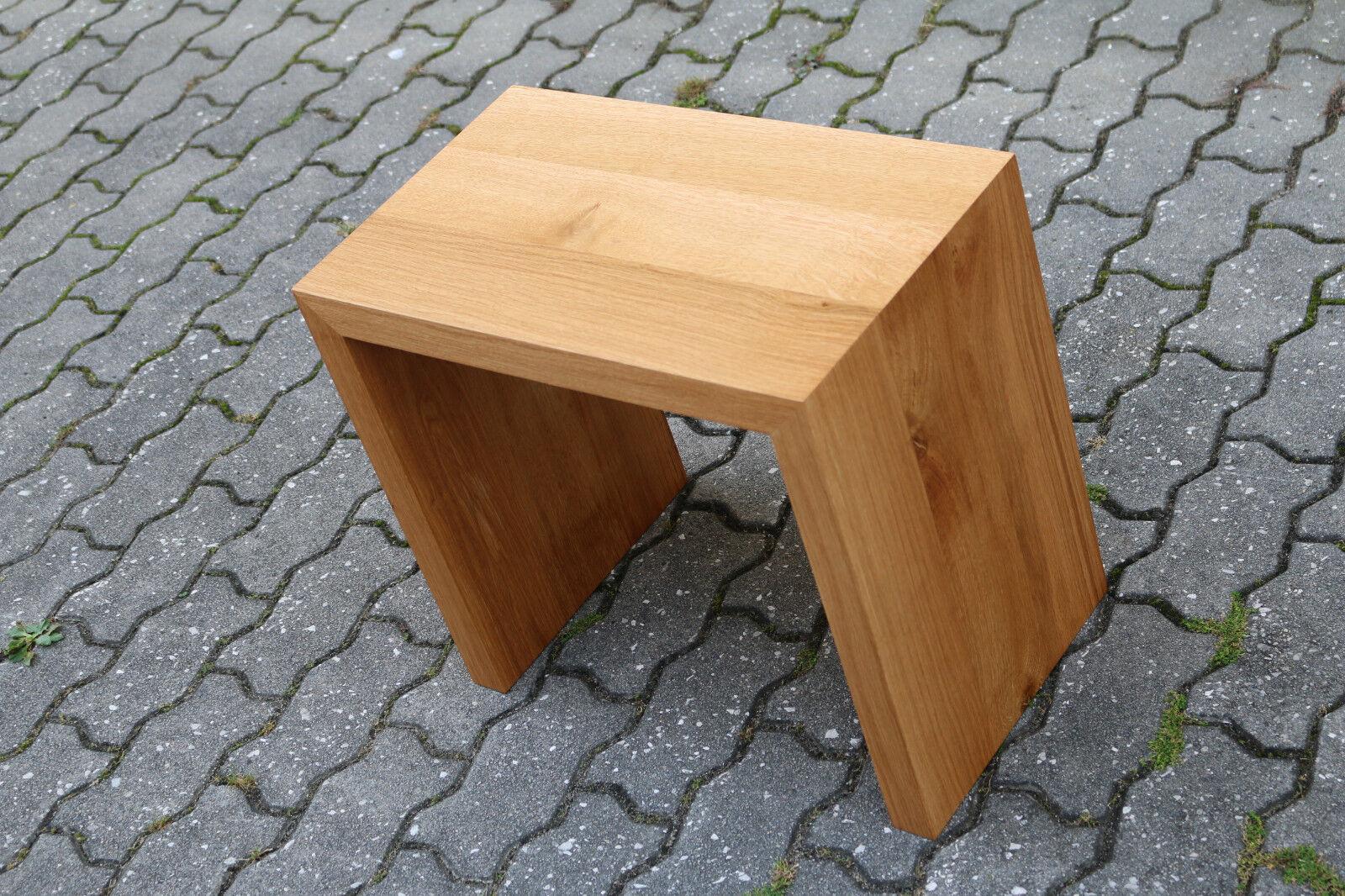 designer hocker aus eiche massiv holz sitzhocker neu stuhl sitzbank couchtisch chf. Black Bedroom Furniture Sets. Home Design Ideas